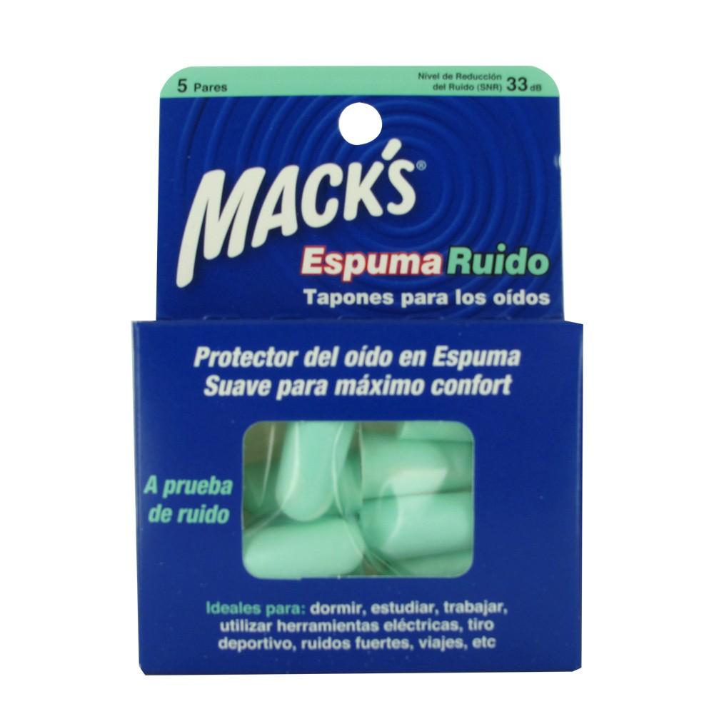 Macks tapones para los oidos de espuma 5 pares