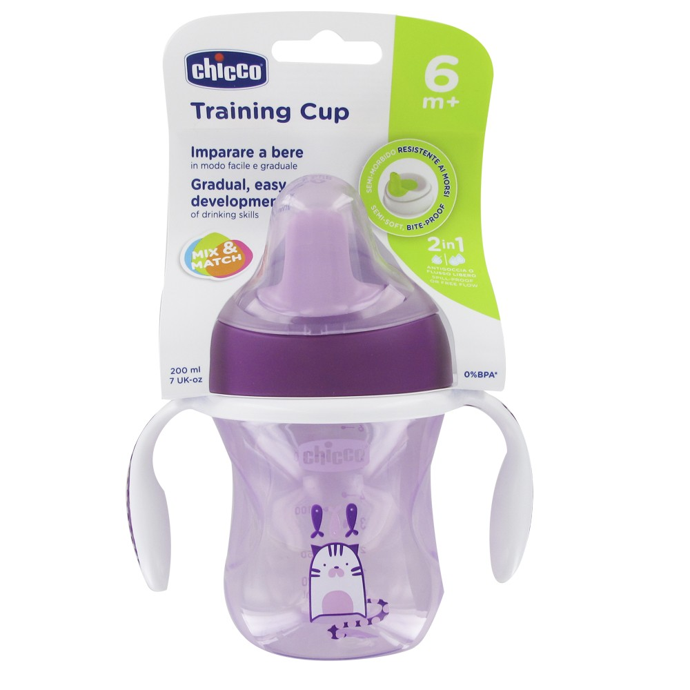 Chicco training cup girl +6months 200ml