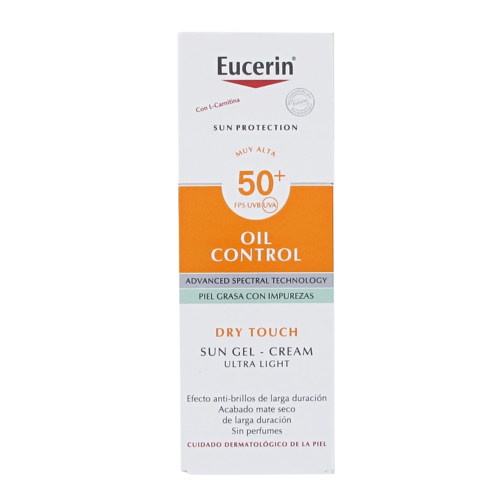 Eucerin Oil Control Sun Gel Creme Dry Touch Spf50 50ml