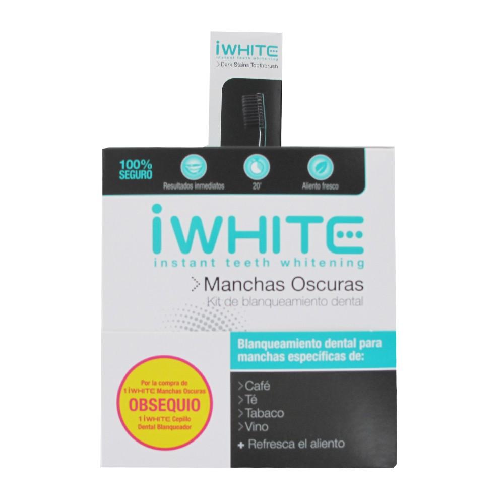 Iwhite pasta dental manchas oscuras 75ml+ cepillo de dientes