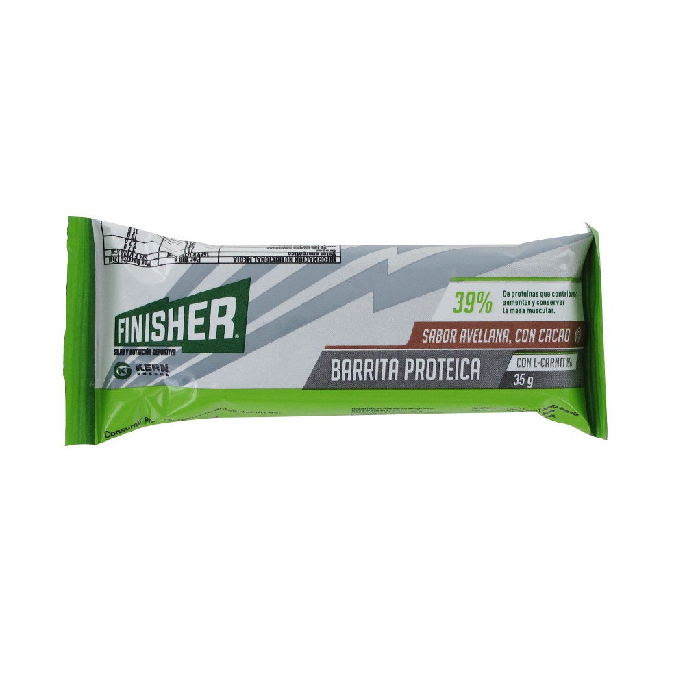 Kern Pharma finisher hazelnut protein bar with cocoa