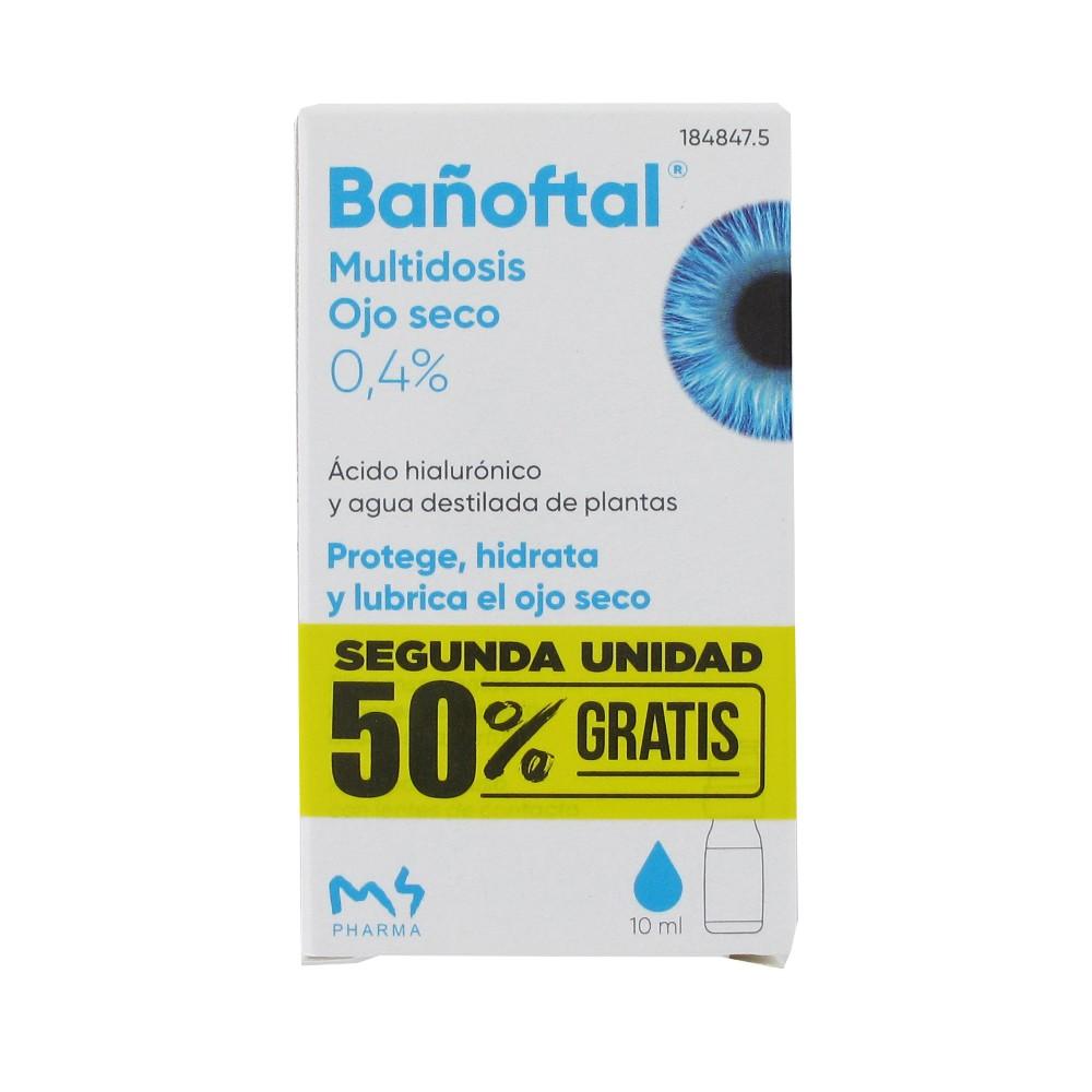 Bañoftal Multidosis ojos secos 0,4%10ml + 10ml (*)