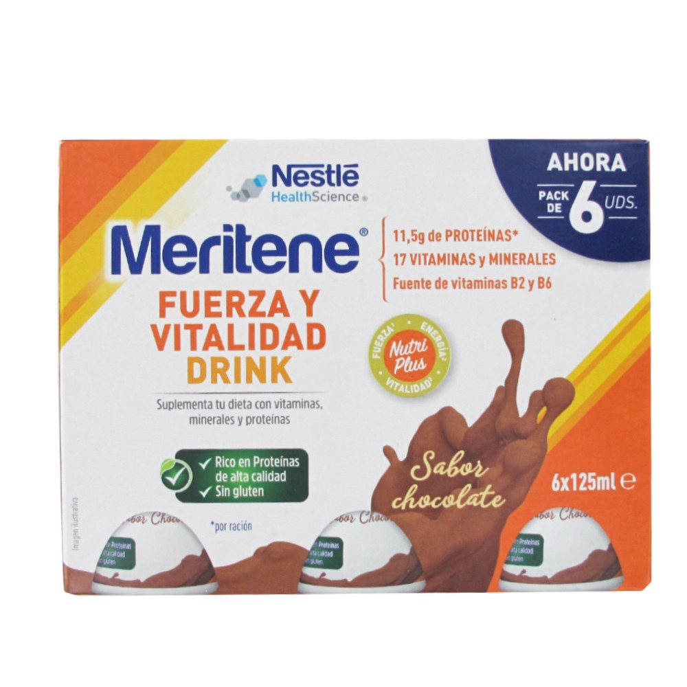 Meritene drink chocolate 125ml 6 botellas