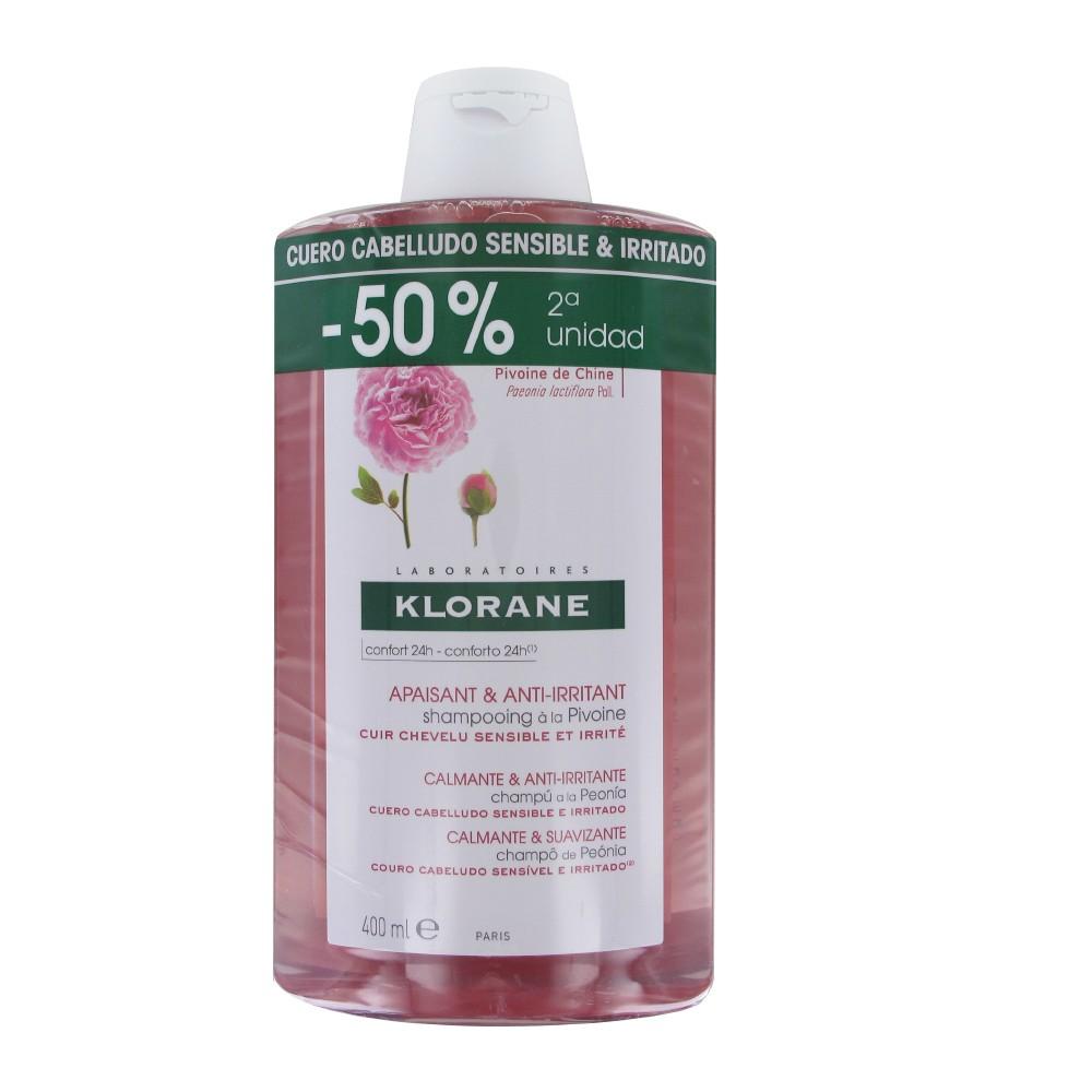 Klorane Champu Peonia 400 ml + 400ml
