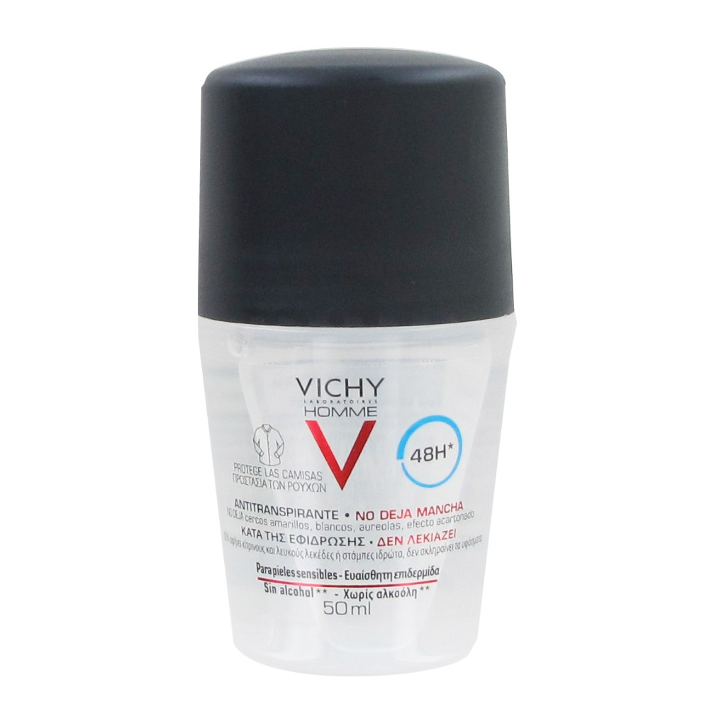 Vichy homme desodorante 48h antimancha-antitranspirante 50ml
