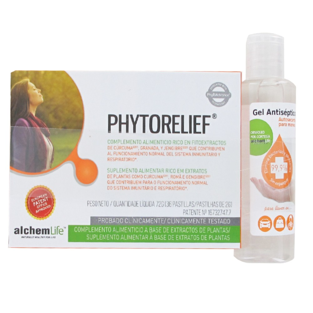 Alchemlife Phytorelief  36 pástillas+gel antiseptico 60ml