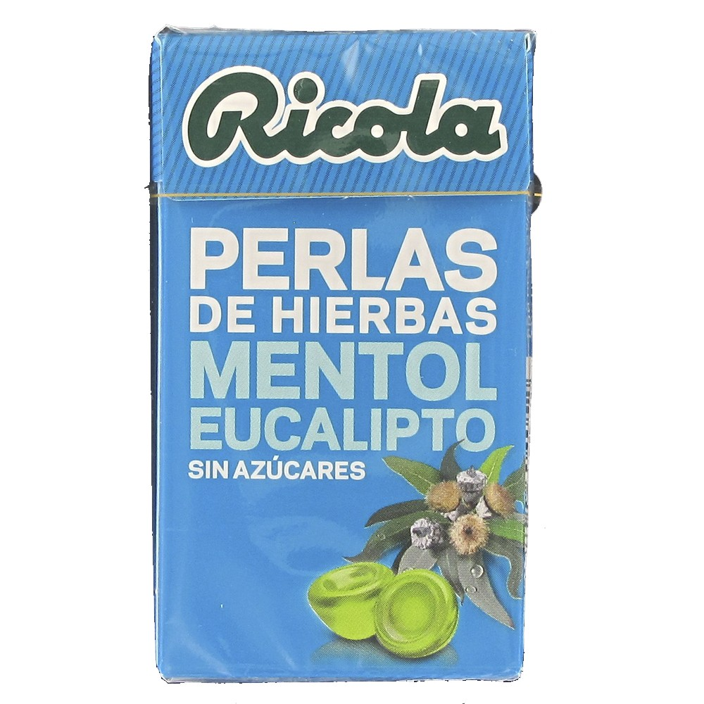 Ricola Menthol -Eucalyptus pearls without sugar 25 g