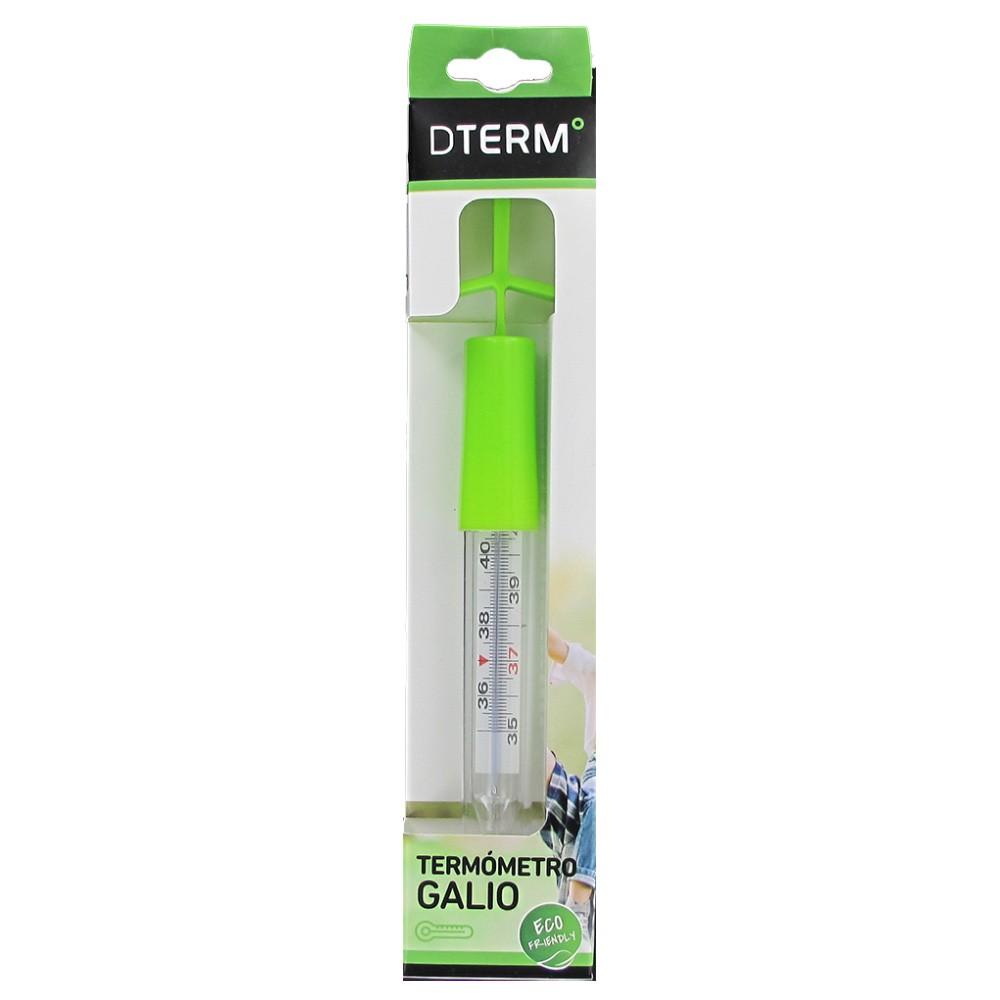 Termometro Dterm De Galio Comprar A Precio En Oferta Y un conjunto de ampollas de vidrio soplado sumergidas en él. termometro dterm de galio