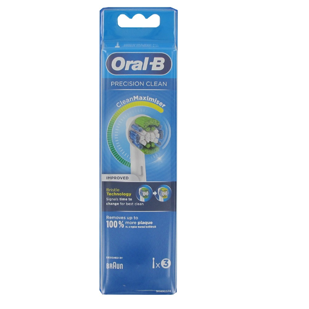 Oral B precision clean electric toothbrush refills 3 units