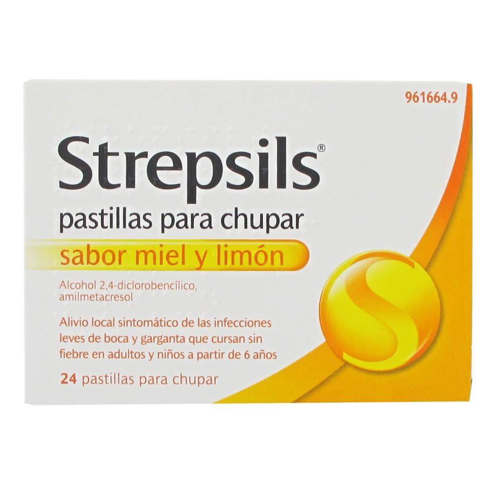 Strepsils 24 pastillas para chupar miel y limon