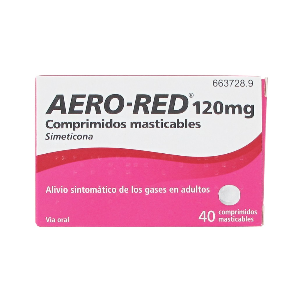 Aero-red 120mg 40 comprimidos masticables