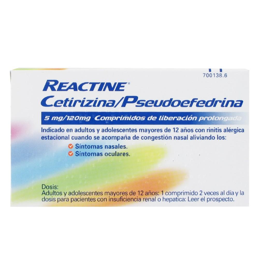 Reactine 14 comprimidos