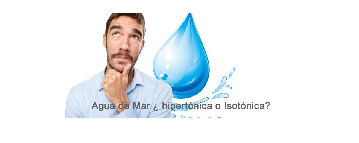 El poder del agua de mar. ¿Isotónica o hipertónica?