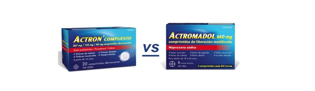 ¿Qué es mejor: Actron o Actromadol?