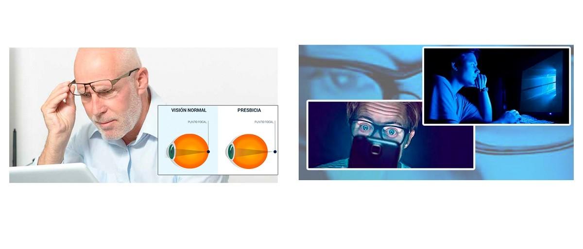 ¿Qué necesito gafas de presbicia o gafas con filtro azul?