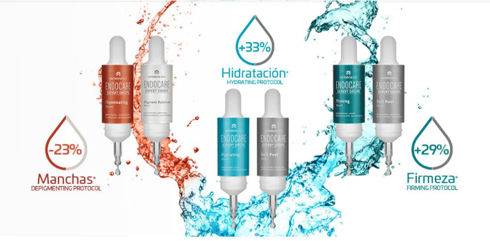 Endocare expert drops: hydrating, depigmenting, firming.